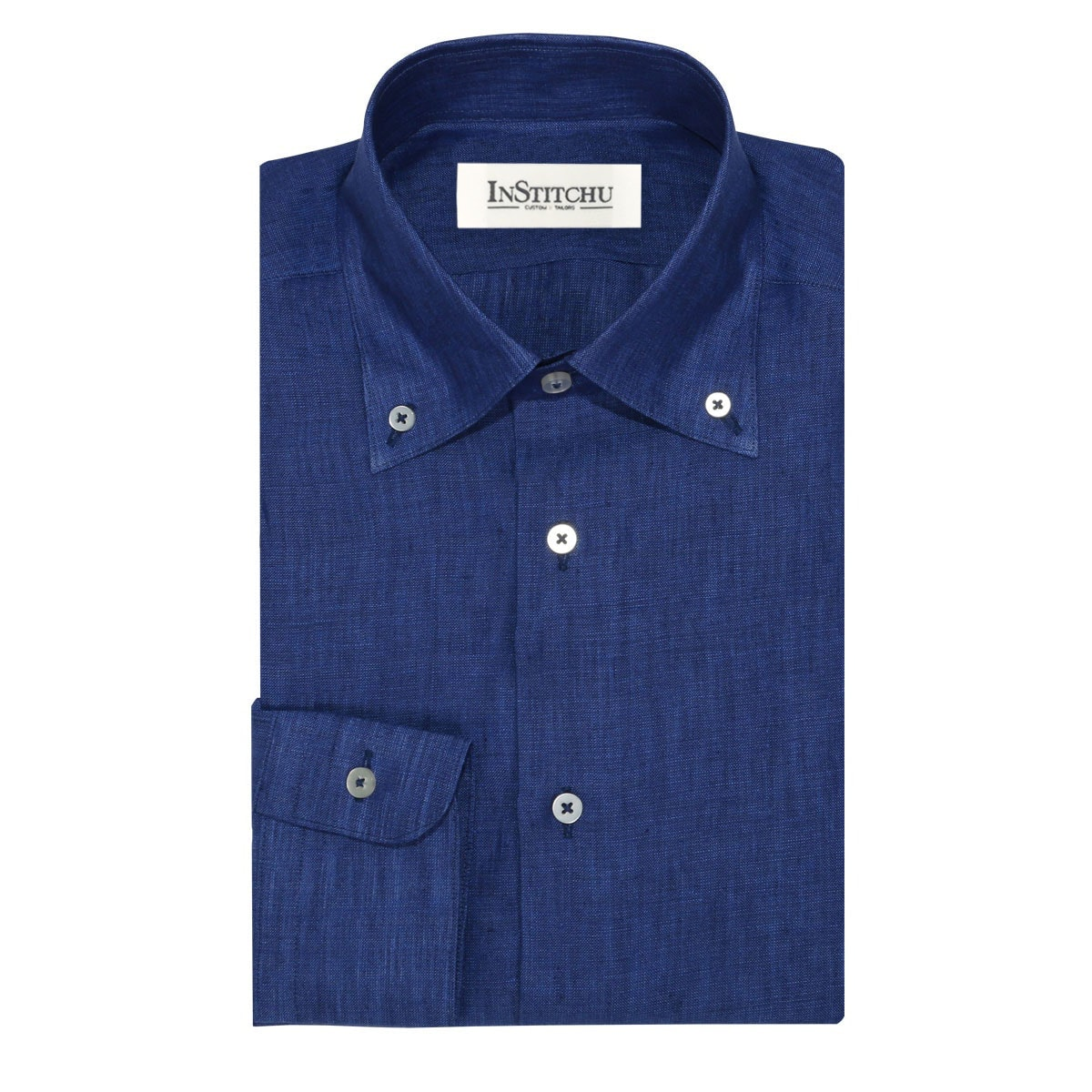InStitchu Collection The Como Blue Linen Shirt