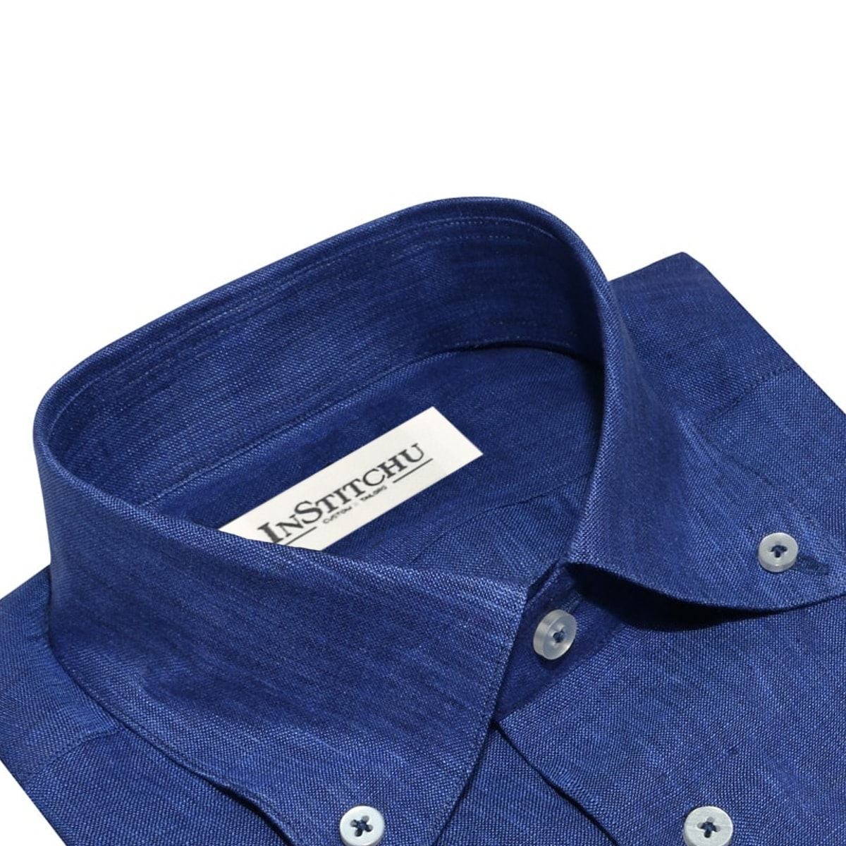 InStitchu Collection The Como Blue Linen Shirt
