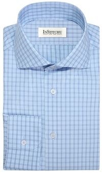 InStitchu Collection The Coolum Blue and Purple Check Shirt