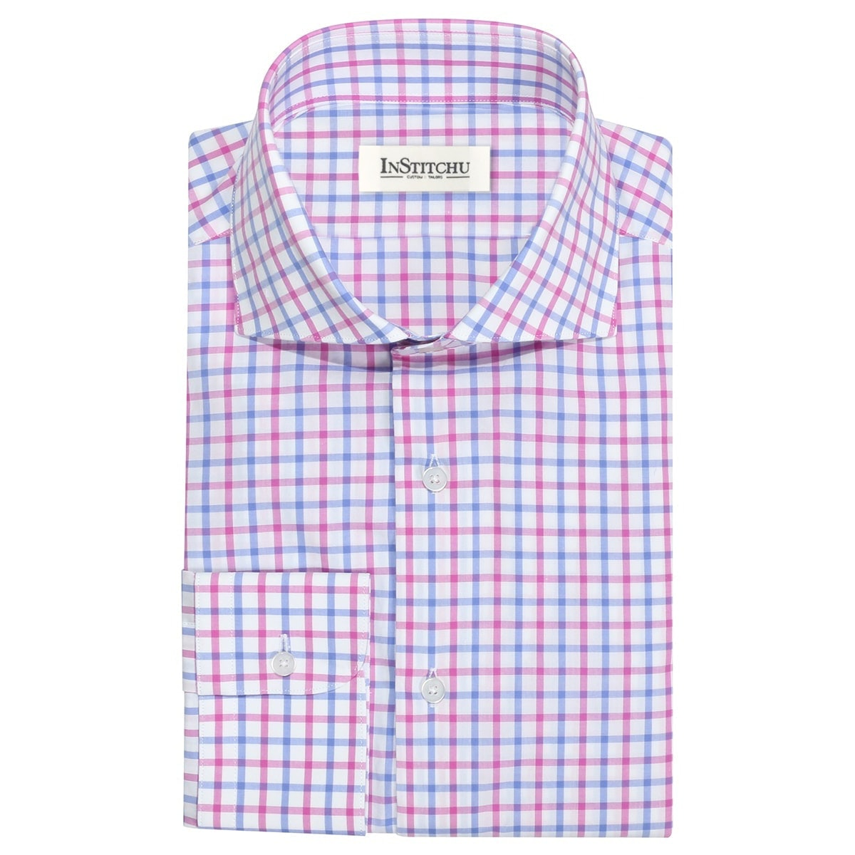 InStitchu Collection The Corindi Blue and Pink Check Shirt