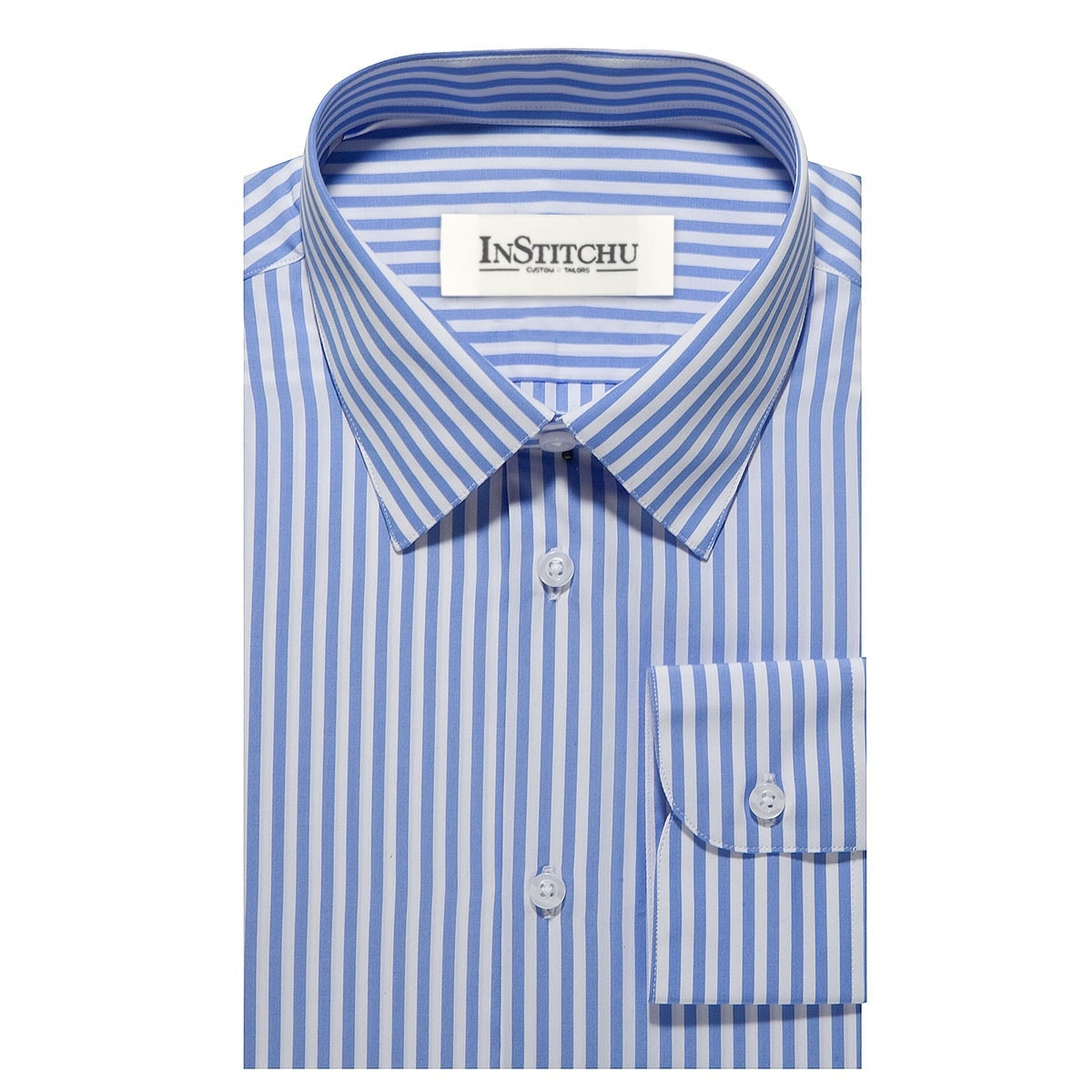 InStitchu Collection The Cottesloe Blue Striped Shirt