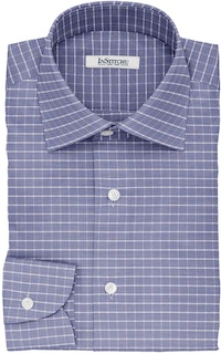 InStitchu Collection The Dante Blue Glen Plaid Cotton Shirt