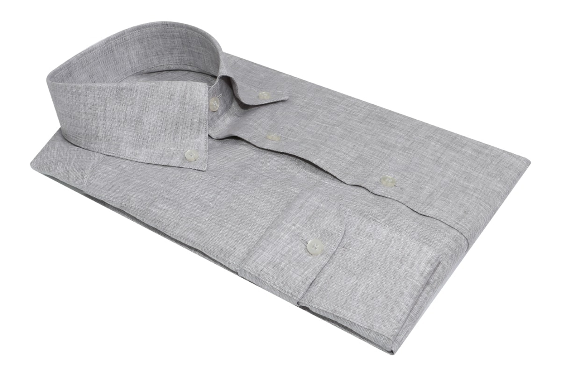 InStitchu Collection The Del Mar Grey Linen Shirt