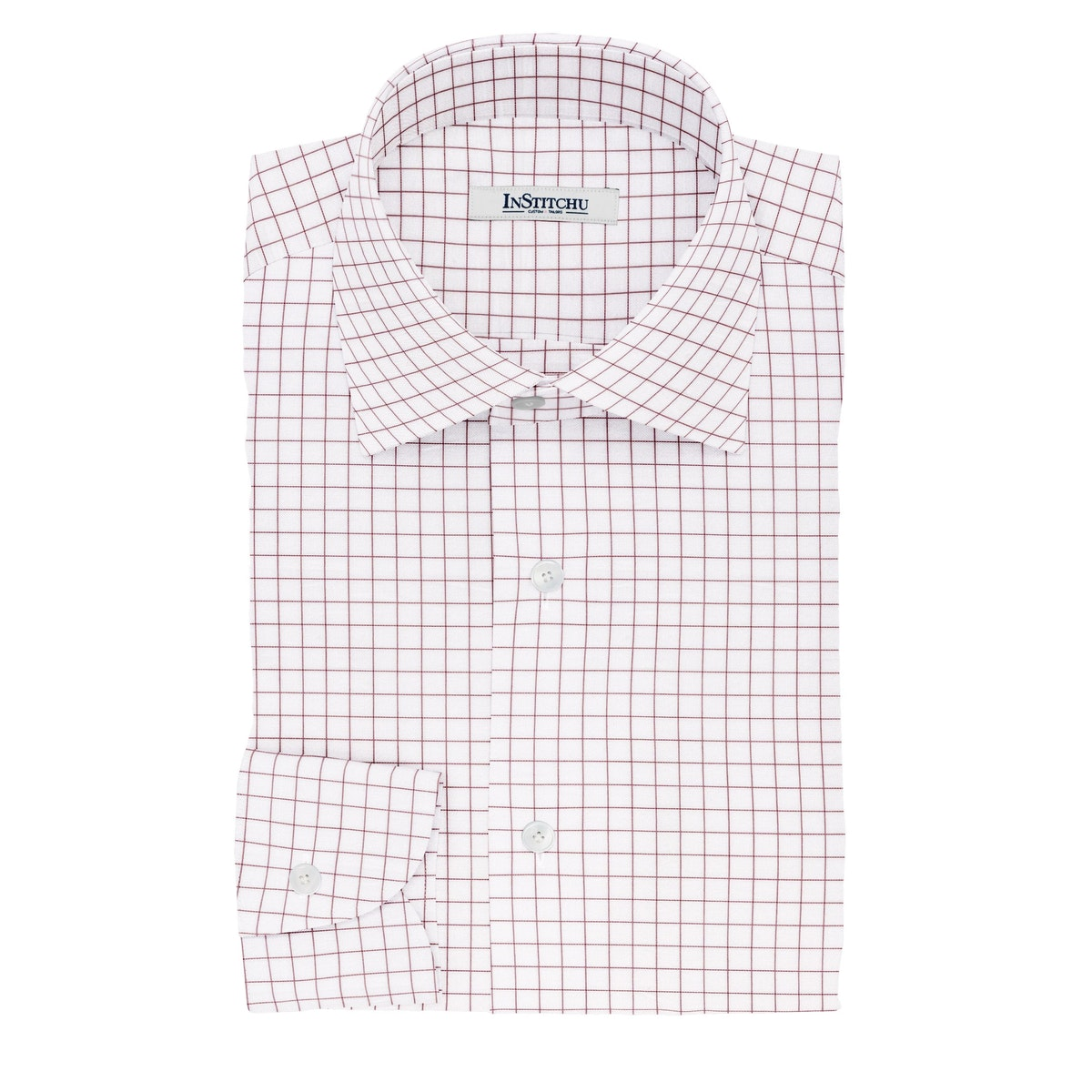 InStitchu Collection The Dickinson Red Windowpane Cotton Shirt