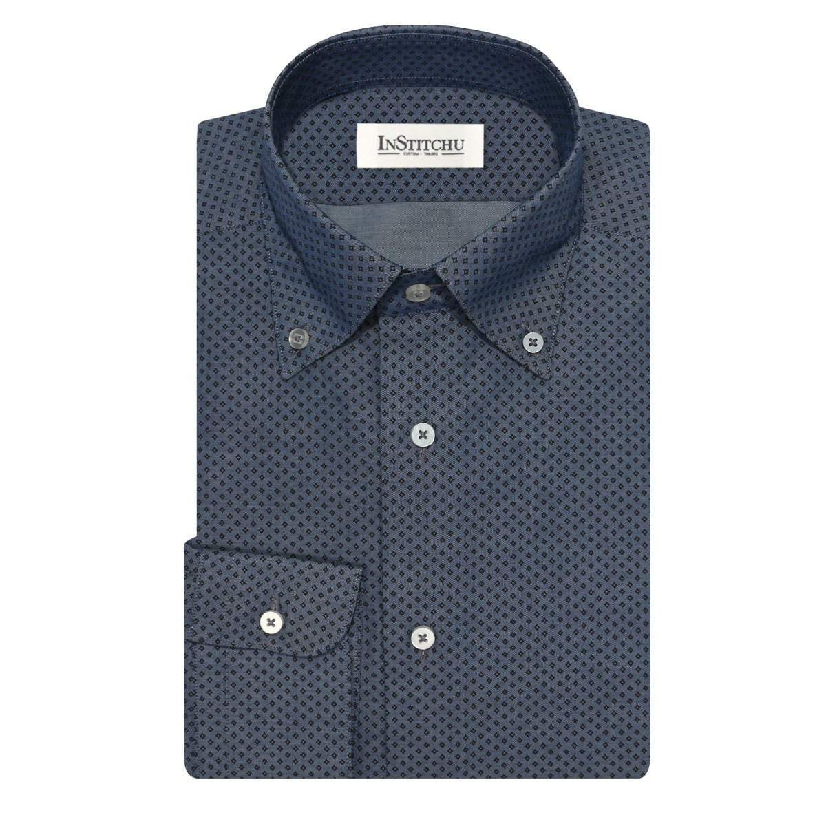 InStitchu Collection The Discovery Navy Print Shirt