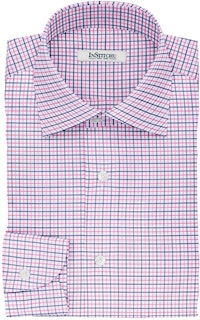 InStitchu Collection The Doyle Pink and Navy Tattersall Cotton Shirt