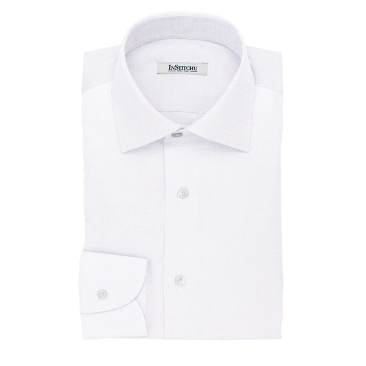 InStitchu Collection The Draper White Cotton Oxford Popover Shirt