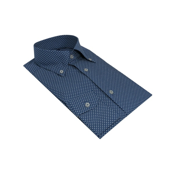 InStitchu Collection The Dumas Blue Print Shirt