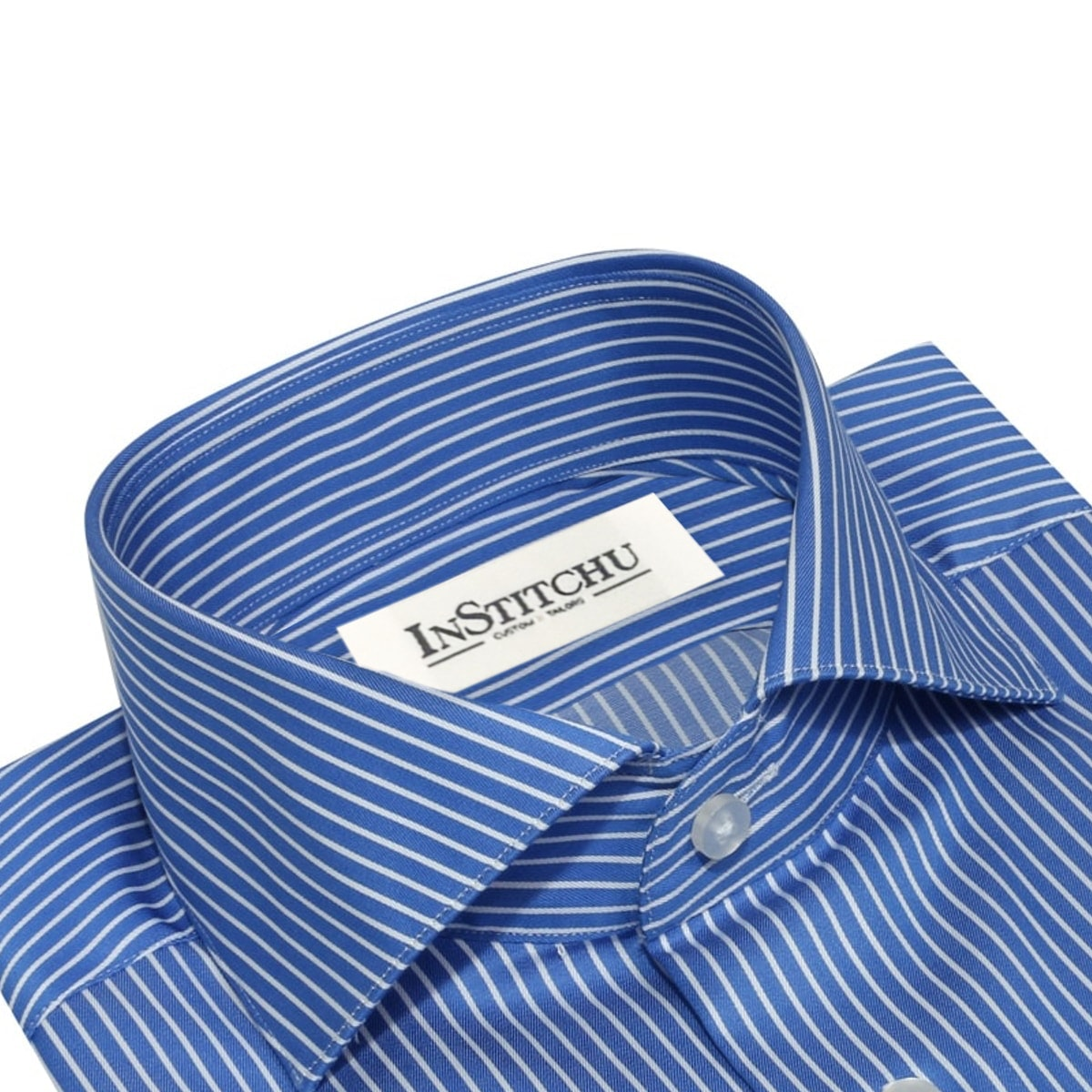 InStitchu Collection The Emeralda Blue Stripe Shirt