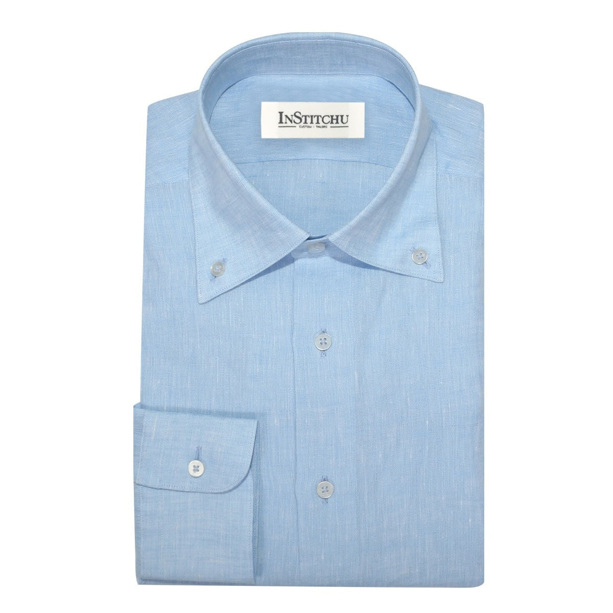 InStitchu Collection The Encinitas Light Blue Linen Shirt