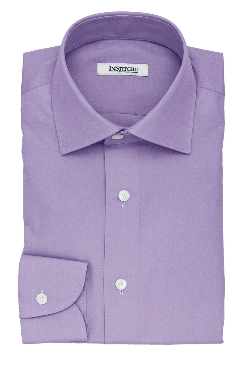 InStitchu Collection The Faulkner Purple Cotton Shirt