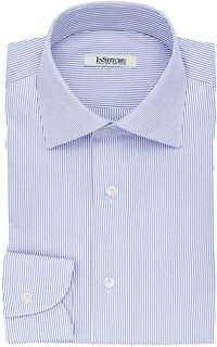 InStitchu Collection The Fleming Blue and White Striped Cotton Shirt