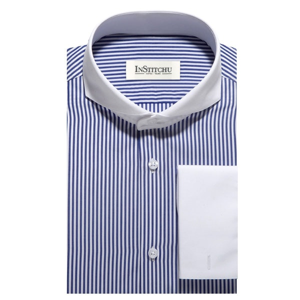 InStitchu Collection The Floreat Blue Pinstriped Shirt