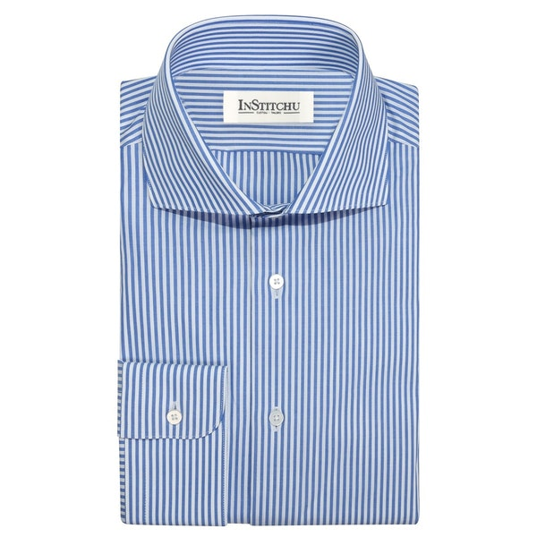 InStitchu Collection The Foley Blue Striped Shirt