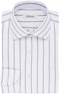 InStitchu Collection The Forsythe White and Blue Pinstripe Cotton Blend Shirt