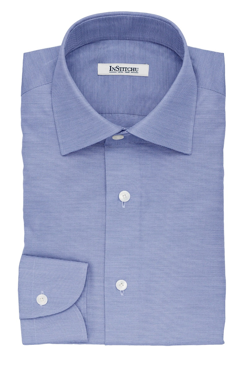 InStitchu Collection The Freemantle Blue and White Striped Cotton Shirt