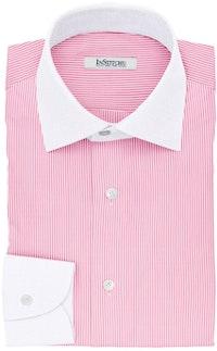 InStitchu Collection The Gekko Pink Stripe Cotton Banker Shirt