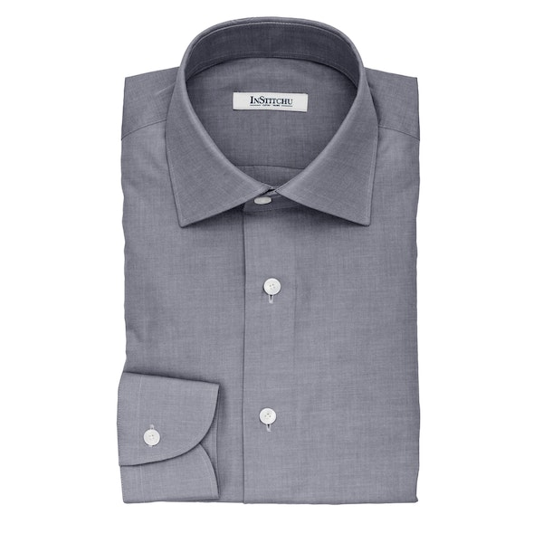 InStitchu Collection The Grasso Grey Cotton Shirt