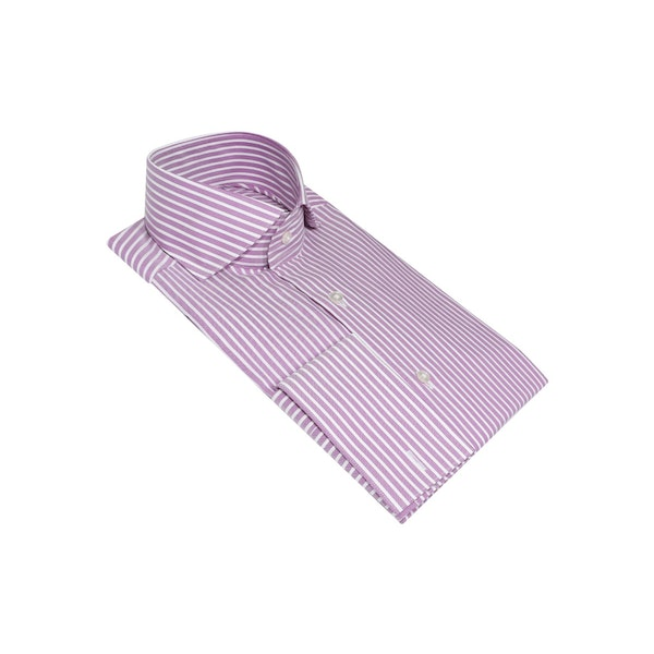 InStitchu Collection The Greenmount Purple Striped Shirt