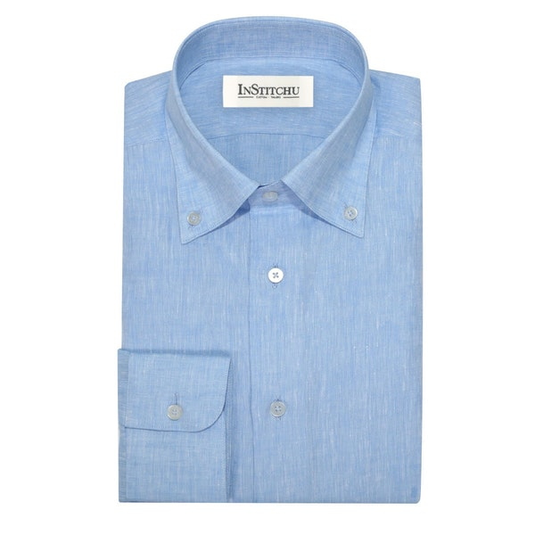 InStitchu Collection The Grover Light Blue Linen Shirt
