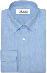 InStitchu Collection The Grover Light Blue Linen Shirt