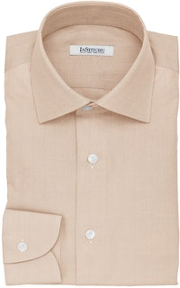InStitchu Collection The Harrison Beige Herringbone Cotton Shirt