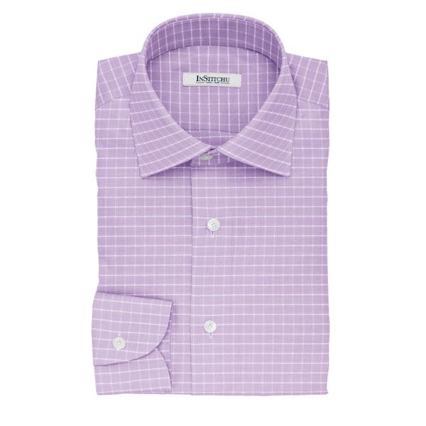 InStitchu Collection The Hill Violet Glen Plaid Cotton Shirt
