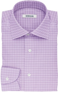 InStitchu Collection The Hill Violet Glen Plaid Cotton Shirt