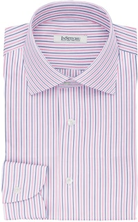 InStitchu Collection The Howard Pink and Navy Striped Cotton Shirt
