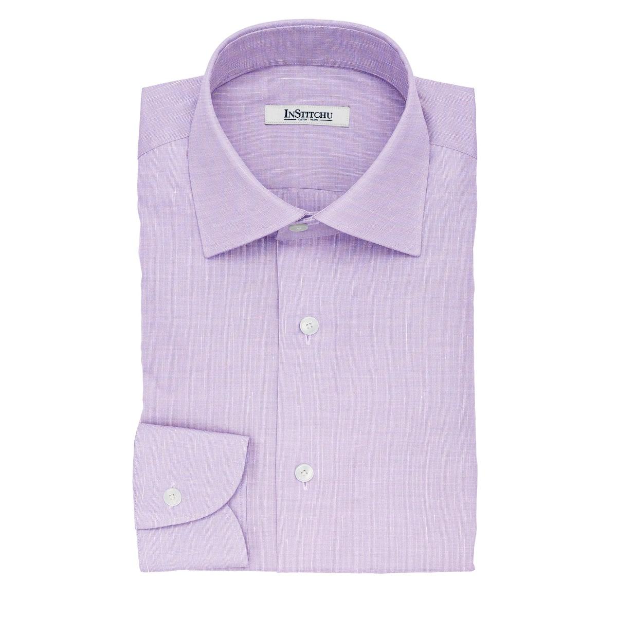 InStitchu Collection The Hugo Violet Cotton Linen Blend Shirt