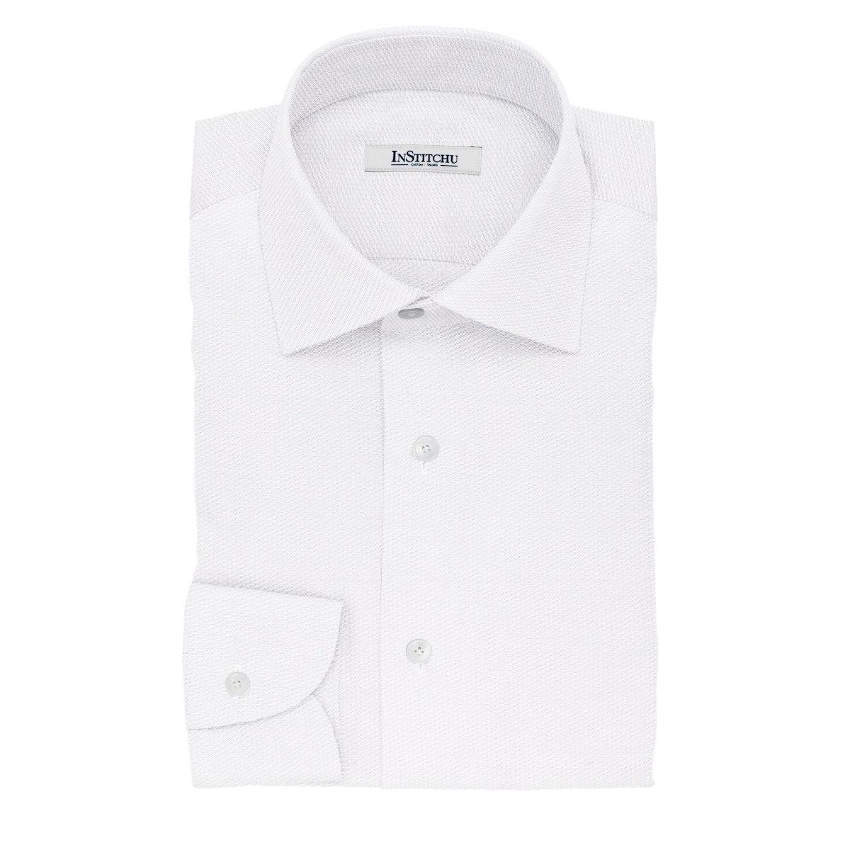 InStitchu Collection The Hunt White Diamond Cotton Shirt