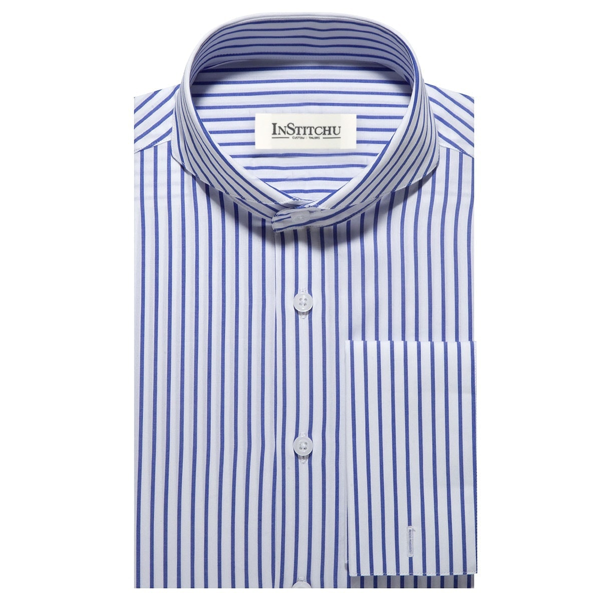 InStitchu Collection The Jensen Blue Stripe Shirt
