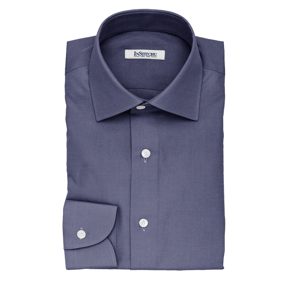 InStitchu Collection The Kafka Denim Blue Non-Iron Cotton Shirt