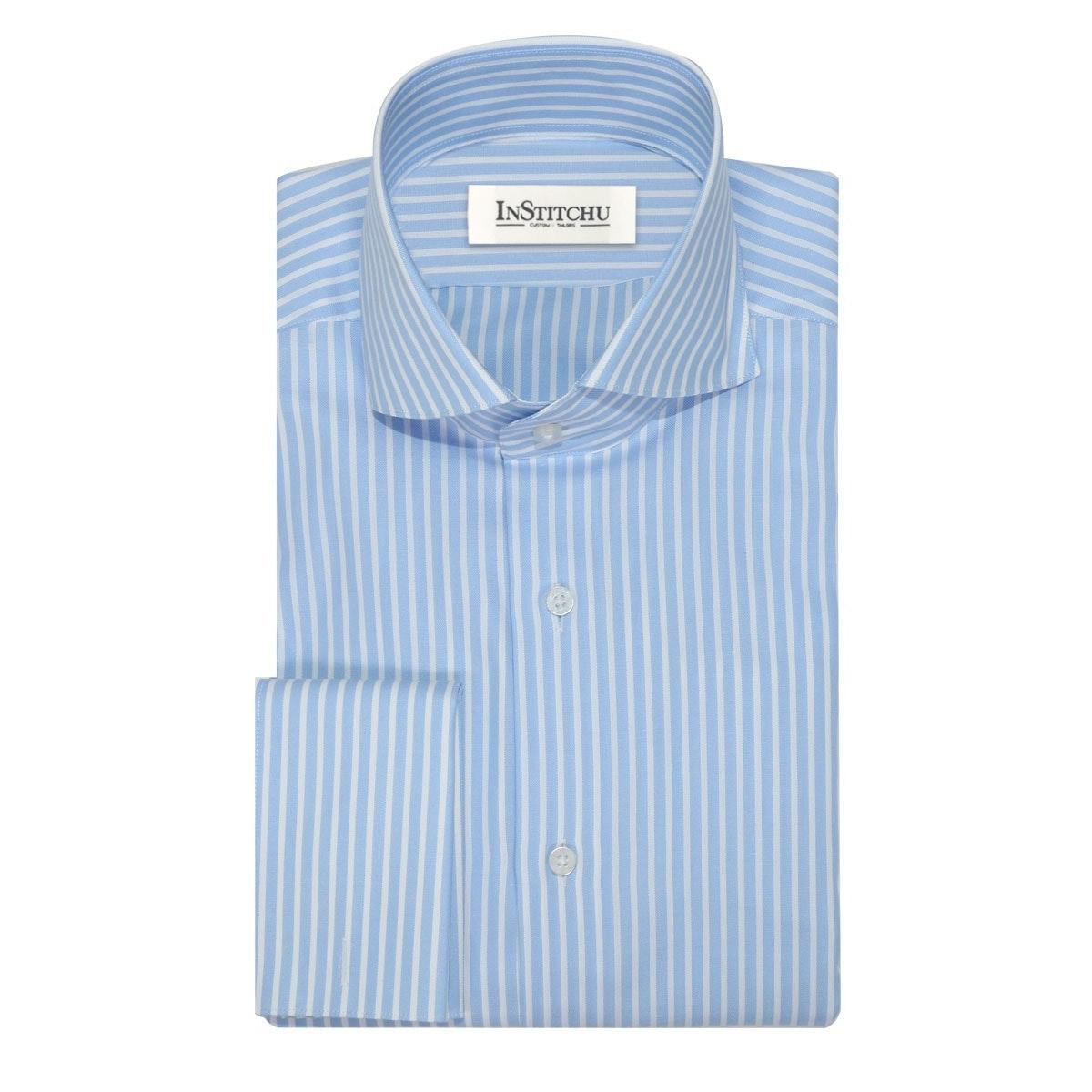InStitchu Collection The Kewarra Blue Striped Shirt
