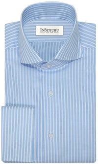 InStitchu Collection The Kewarra Blue Striped Shirt