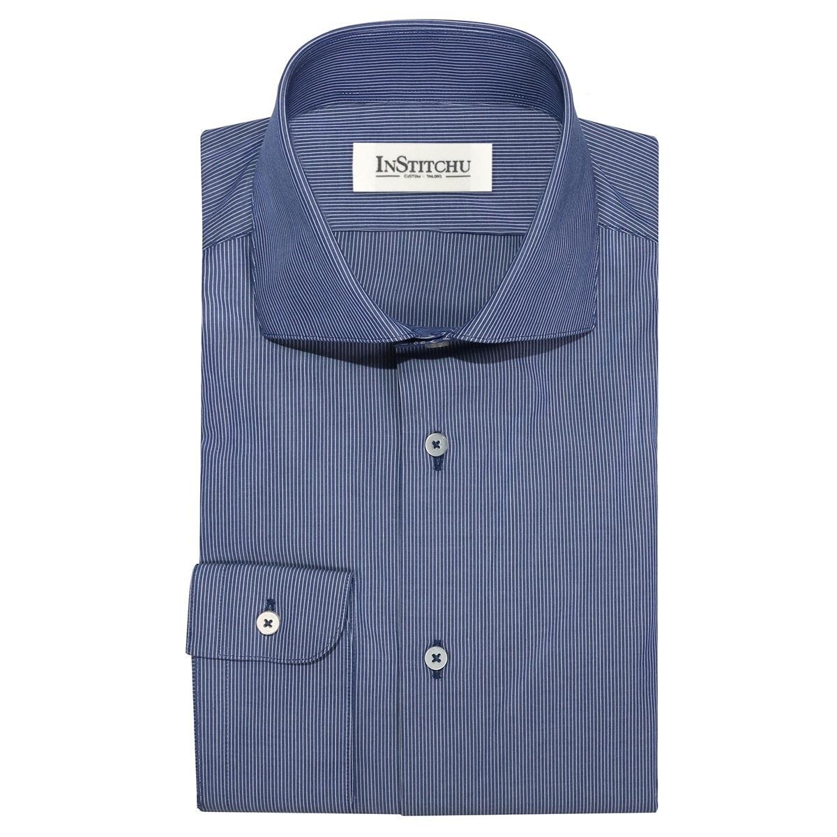 InStitchu Collection The Kings Blue Striped Shirt