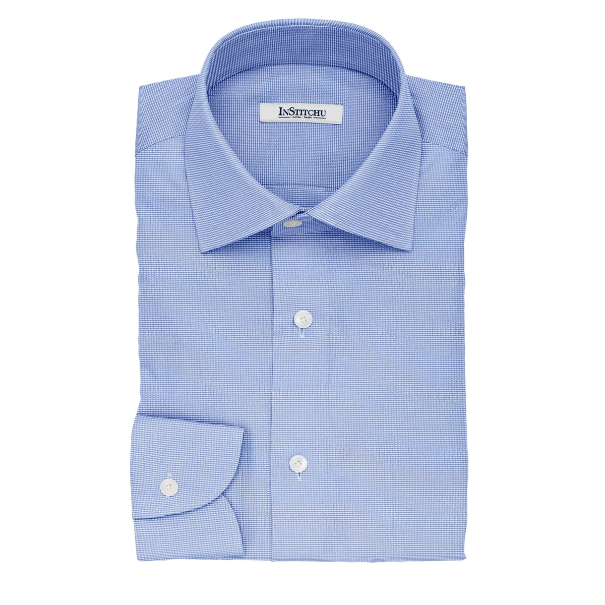 InStitchu Collection The Kipling Blue and White Striped Cotton Shirt