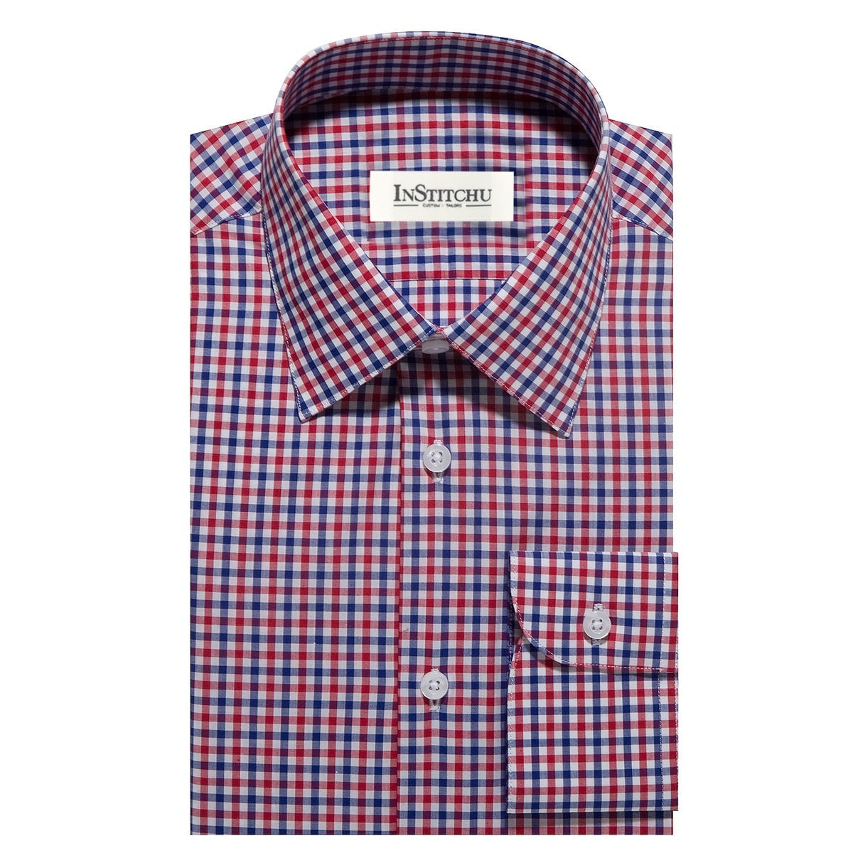 InStitchu Collection The Kure Red, White and Blue Check Shirt