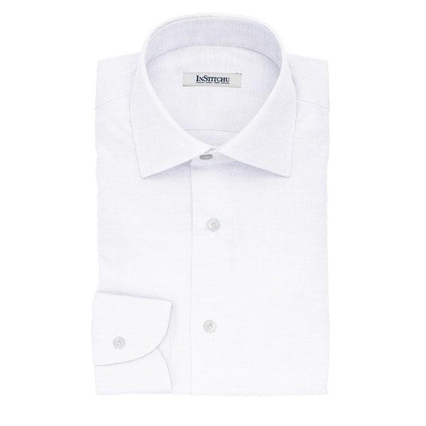 InStitchu Collection The Leone White Cotton Shirt