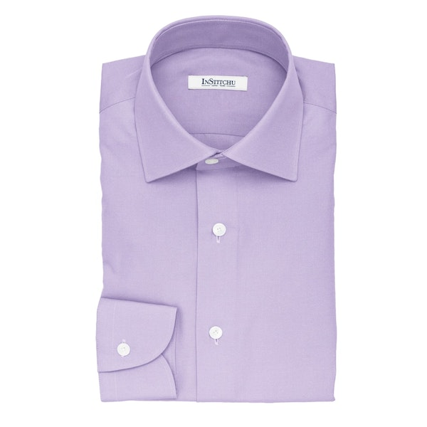 InStitchu Collection The Lugano Lilac Cotton Shirt