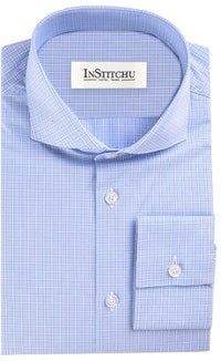 InStitchu Collection The Madderom Blue Striped Shirt