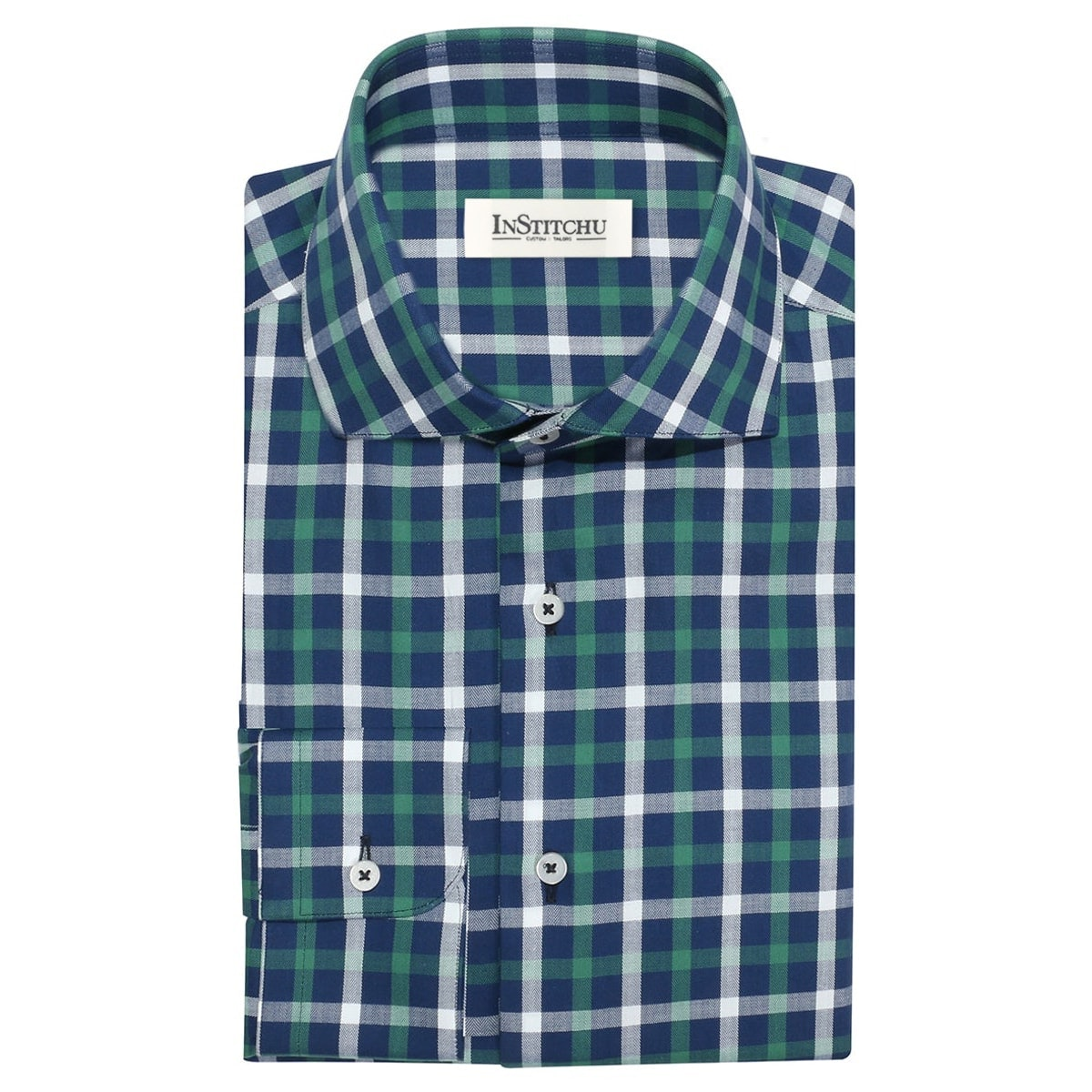InStitchu Collection The Manzanilla Green Check Shirt