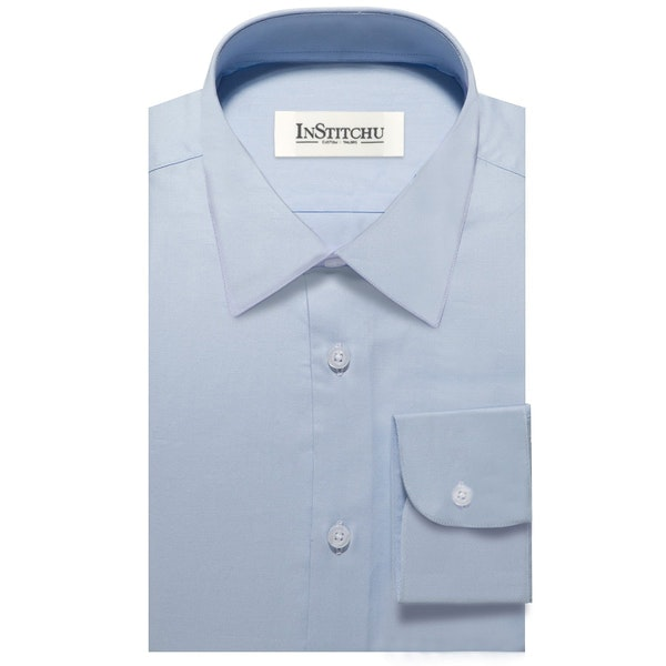 InStitchu Collection The Maslin Blue Non-Iron Shirt