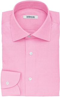InStitchu Collection The McGonagall Pink Herringbone Cotton Shirt