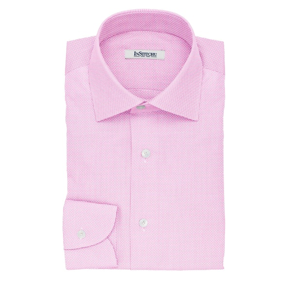 InStitchu Collection The Melville Pink Dobby Non-Iron Cotton Shirt