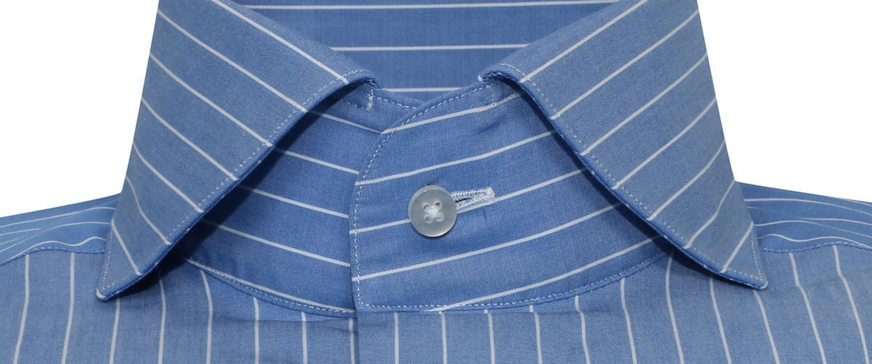 InStitchu Collection The Mermaid Dark Blue Striped Shirt
