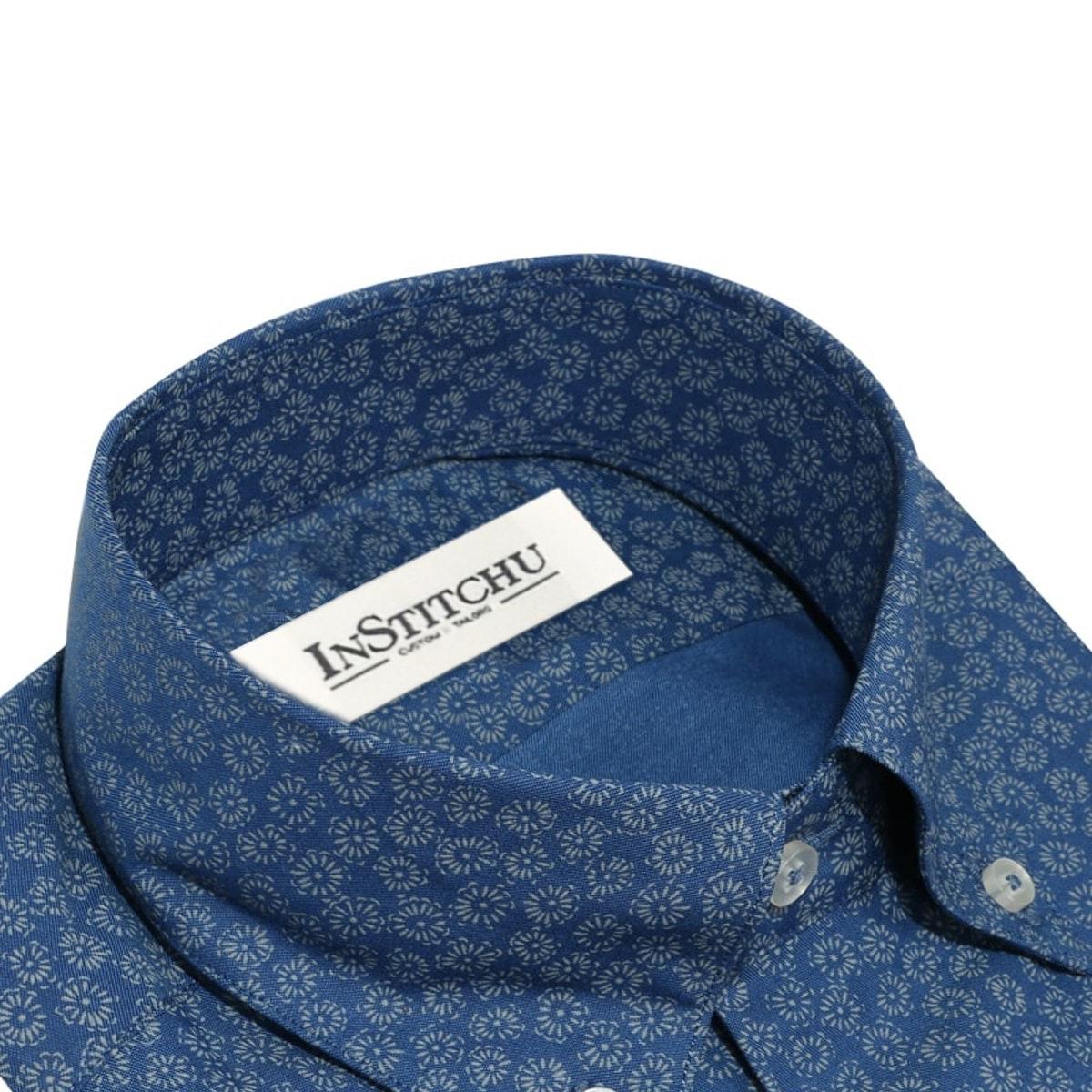 InStitchu Collection The Mindil Blue Print Shirt