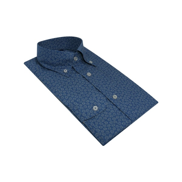 InStitchu Collection The Mindil Blue Print Shirt
