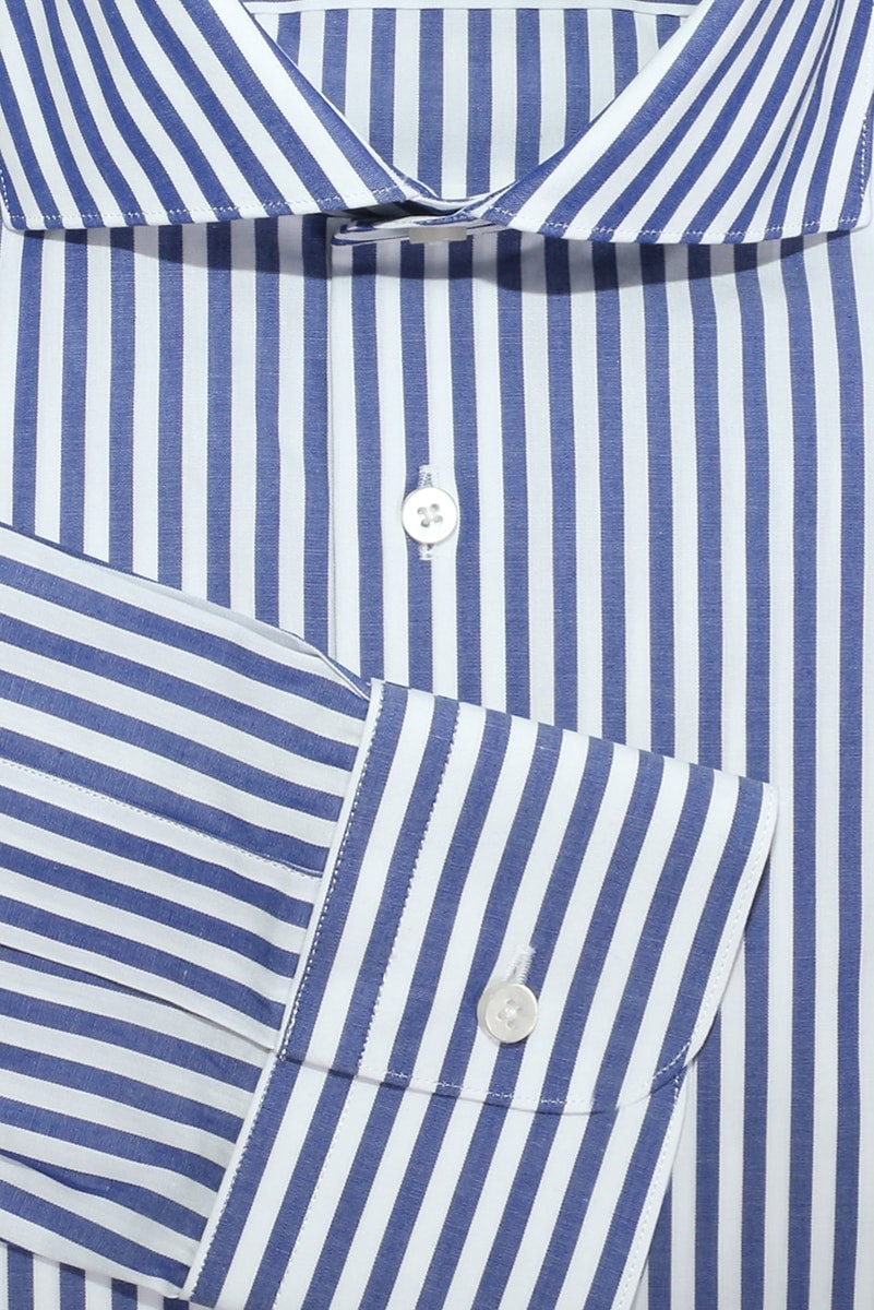 InStitchu Collection The Muriwai Blue and White Stripe Shirt