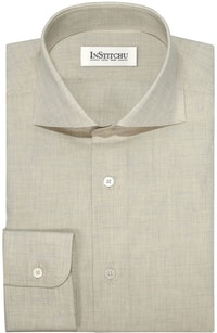 InStitchu Collection The Obelisk Cream Linen Shirt